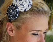 Polka-dotted Rosette adorned Headband Adult
