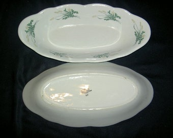 Pair of Vitreous China Oval Serving Dishes  UNDER 20