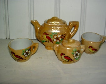 Mini Glazed Tiny Tea Set  UNDER 20
