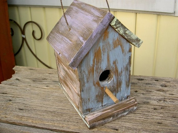 vintage Primitive Upcycled Garden Bird House