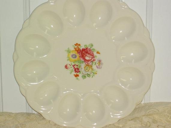 Deviled Egg  Plate Vintage Cannonsburg