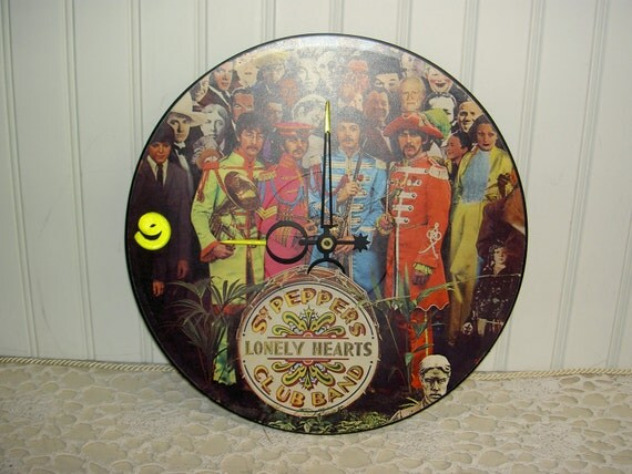 Vintage Sgt. Pepper's Lonely Hearts Club Band  Beatles Clock