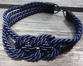 Navy Sailor Knot Headband