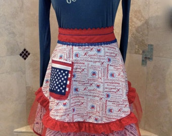 Apron Mixed Up Politics II Sassy Aprons by Trish Vernazza Featured in Apronology Magazine