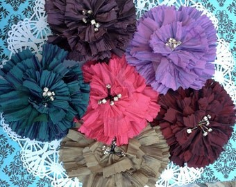 Irrisdiscent Flower Jacket  Dress Pin and Hairclip