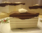Almond Coconut Dessert Large Soap Bar with Shea Butter