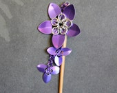 Purple Scalemaille Hair Stick