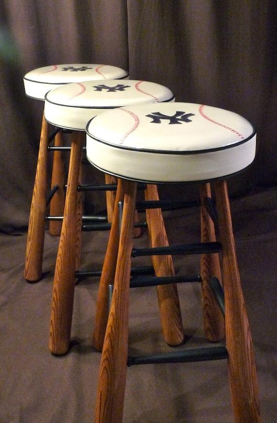 Items Similar To Baseball Bat Bar Stool Solid Wood Ash