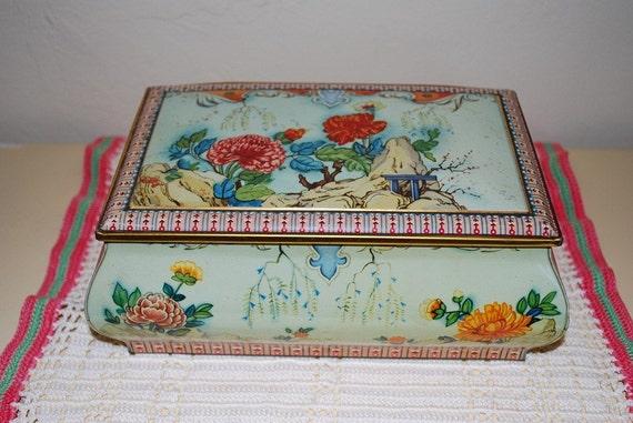 Vintage Decorative Metal Tin Metal Box Company England
