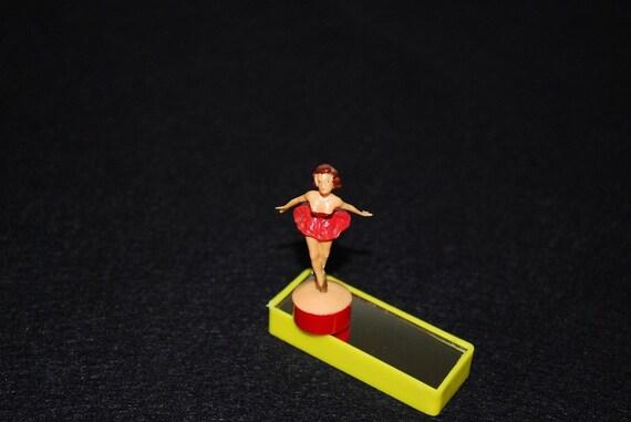 Vintage Western Germany Dancing Ballerina Magnet Toy