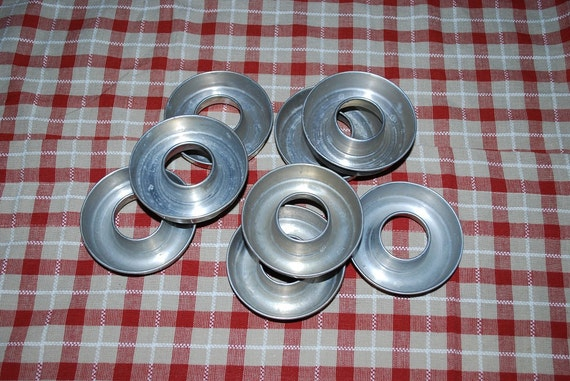Antique 1930's Mirro Individual Ring Molds Set of 8