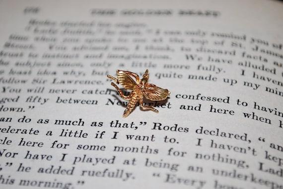 Vintage Golden Mosquito Tie Tack