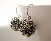 Modern Silver Earrings -  Wire, Filigree, Funky, Drop, Dangle, Contemporary, Jewelry, Jewellery