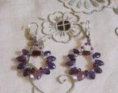 Purple Passion Drops Earrings