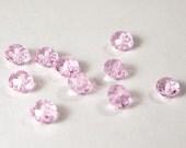 Glass crystal SWAROVSKI inspired beads 8x6 mm light pink topaz quartz jewelry making supplies sale bargain clearance 24 - DESTASH 04