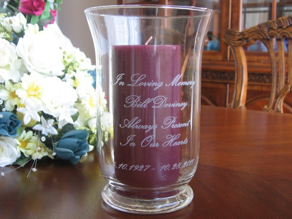 Memorial Candle Holder Personalized Engraved By Engravingbyt