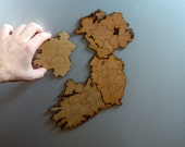 Ireland Regions Magnetic Map Puzzle - Stained Birch Plywood
