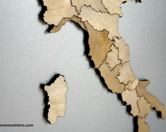 Italy Map Puzzle - Birch Plywood