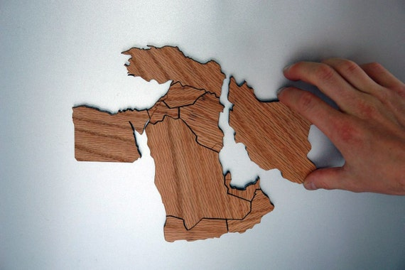 Middle East Magnetic Geography Puzzle - Oak