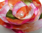 Summertime Fabric Flower - clip in hair, on shirt or on your purse for added color