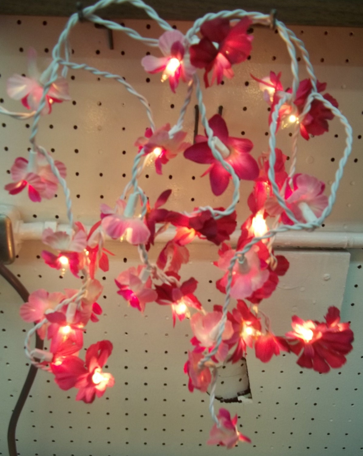 String Lights With Flowers : Flower String Light Set Floral Display Fairy Nightlight by 2bEtsy