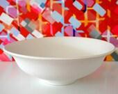 White Wedding - Elegant White Stoneware Bowl