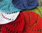Wash cloths, set of three, you choose the colors