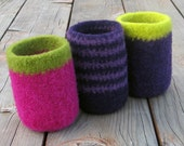PATTERN Felted Wool Can and Bottle Cozies