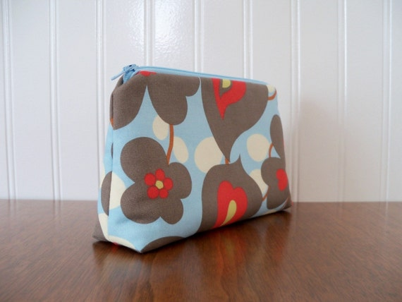 15% off entire shop - Coupon code 15OFF - Cosmetic Bag - Amy Butler Morning Glory