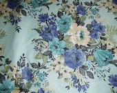 Vintage Cotton Floral Drapery Fabric 1950s 1 Yd Length