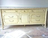 Vintage Thomasville Faux Bamboo Dresser