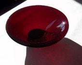 Red Garnet Small Glass Bowl