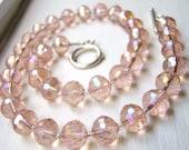 Swarovski Crystal Necklace in Peach