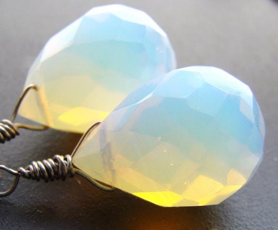 Glowing Moonstone Opaline Earrings MOONLIGHT