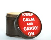 Keep Calm And Carry On Wood  Box