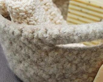 Felt Basket - Natural
