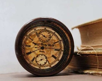 Pocket Watch Powder Box