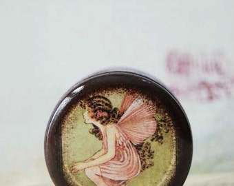 Pink Flower Fairy Pill Box