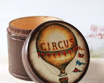 The Circus Is Coming To Town Wood  Box