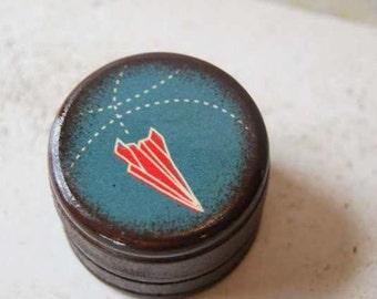 Paper Airplane Pill Box - Stocking stuffer