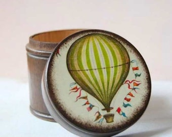 Hot Air Balloon Powder Box Vintage inspired Hot Air Balloon Themed Wedding Baby Nursery Hot Air Balloon Theme