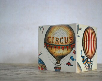 Circus Balloon  Wood Bank - Piggy Bank