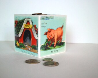 Country Farm Wood Bank - Kids Piggy Bank
