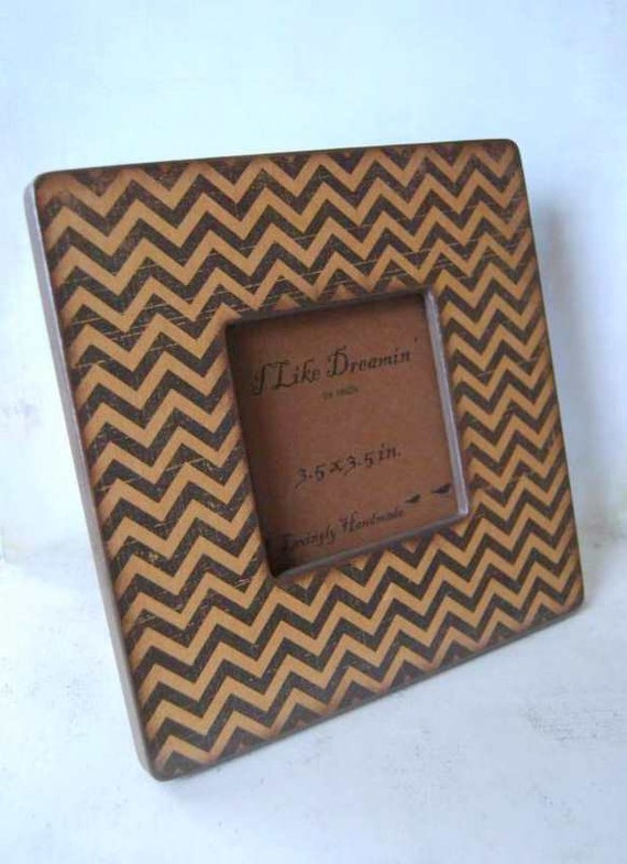 Black Chevron Picture Frame