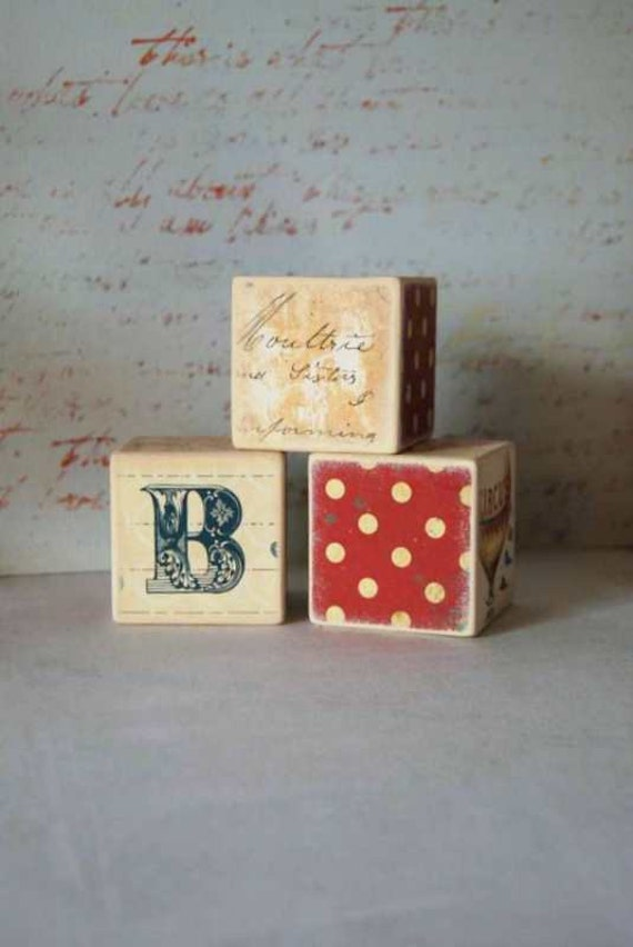 ABC Personalized Large Building Blocks - Set Of 3, Kids Wooden Blocks, Building Blocks, Room Decor, Handmade, Babys Room, Nursery