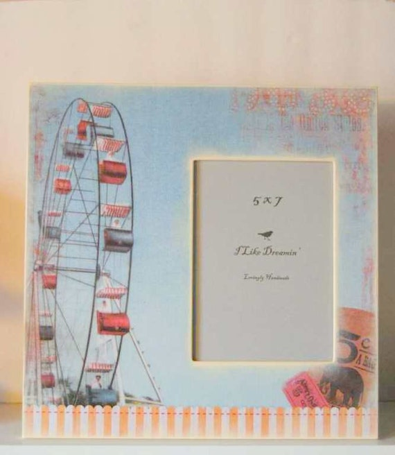 Custom order for Diane - Carnival - Ferris Wheel Picture Frame