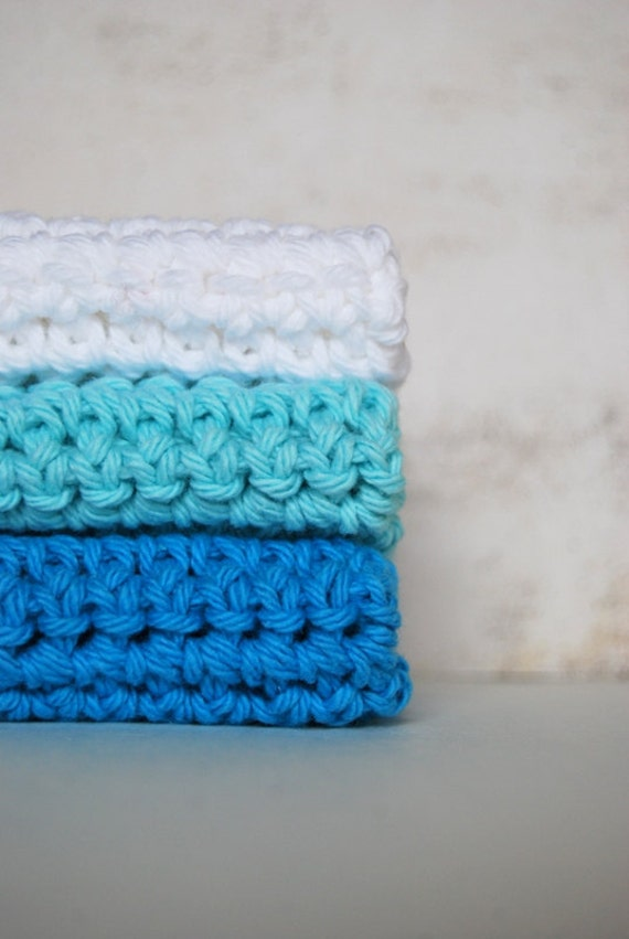 Sea Breeze Wash Cloths - Cotton towels