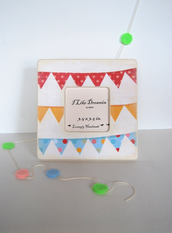 Happiest Day Party Bunting  Picture  Frame