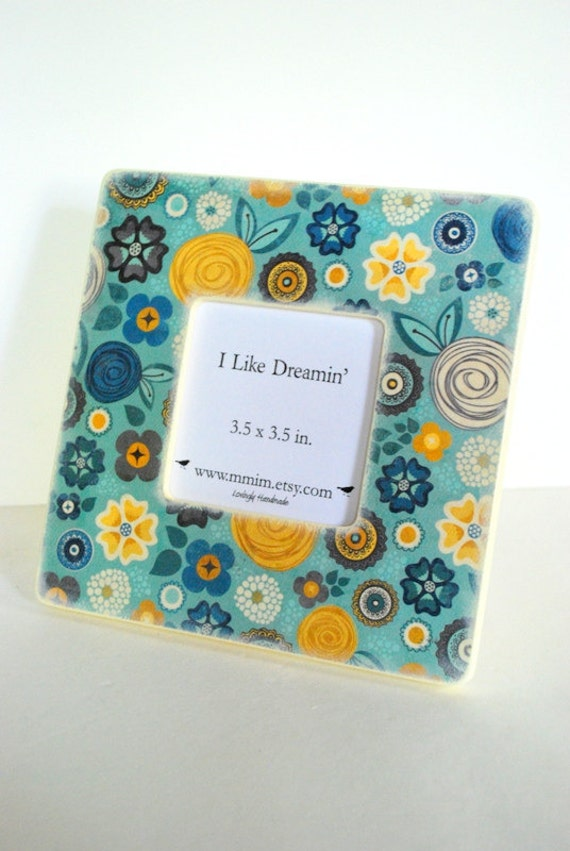 Blue Skies And Yellow Flowers Picture Frame