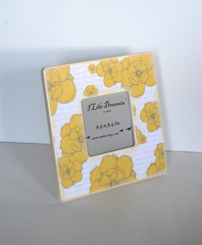 Yellow Flowers Picture Frame